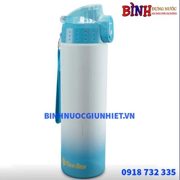 bình đựng nước nhựa rạng đông in logo dung tích 700ml