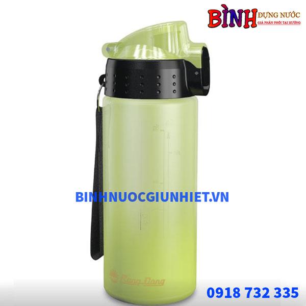 bình đựng nước nhựa rạng đông in logo dung tích 500ml