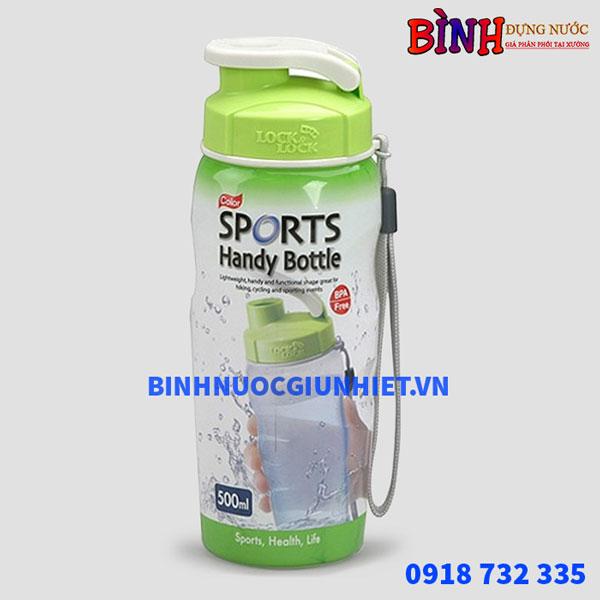 Bình đựng nước nhựa sports lock&lock 500m