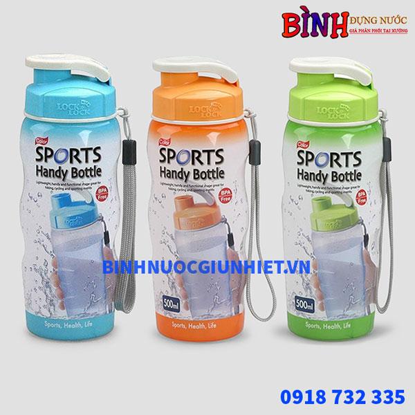 Bình đựng nước nhựa sports lock&lock 500ml